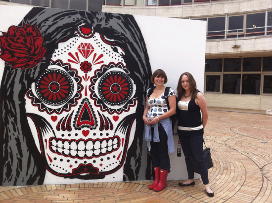 Erica and Caitlin exploring Bogota, as photographed by Lina Srivastava.