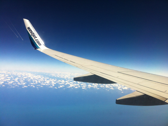 The friendly skies with WestJet!