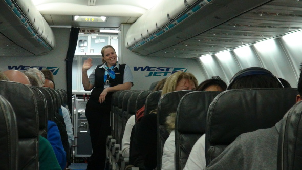 A warm welcome aboard WestJet!