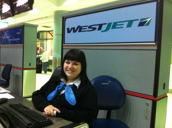 Welcome to WestJet with a smile!