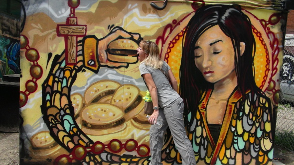 Taking a bite out of the Toronto Street Art.