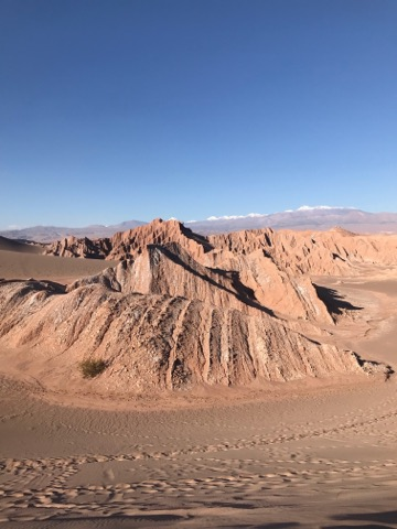 Hiking Sand Dunes in the Atacama Desert