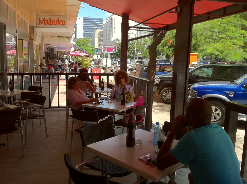 La Dolce Vita, a popular cafe in Maputo, Mozambique.