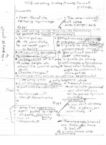 Connor's Debates Notes