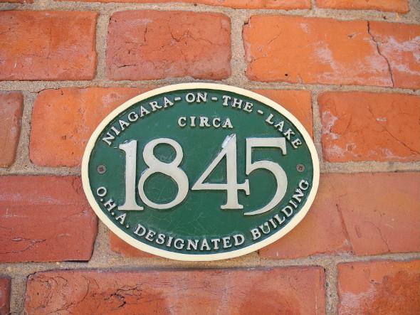 Niagara-on-the-Lake Heritage Home Placard