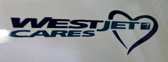 WestJet motto ~ WestJet Cares!