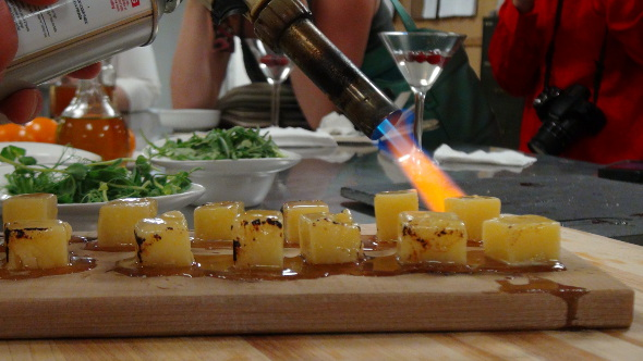 Flaming Balderson's Cheddar at the Chateau Laurier
