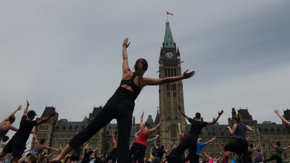 Summer Yoga on Parliament Hill