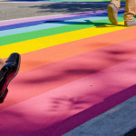 Vancouver's Rainbow Crosswalk, by Sean Neild.