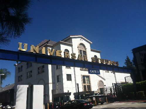 At Universal Film Studios for a Television Show Taping