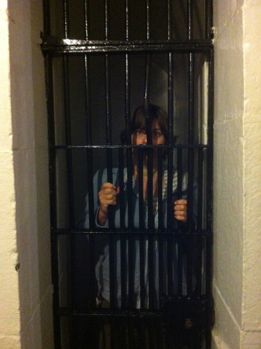 Erica in a Death Row Cell at the old Carleton County Jail