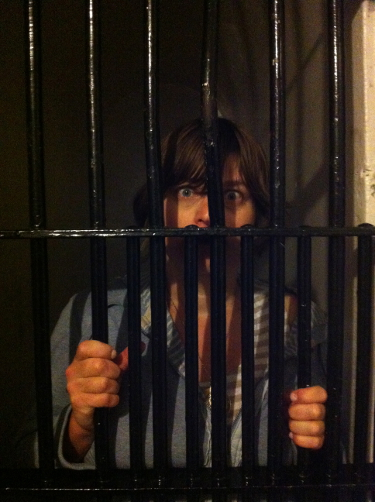 Erica locked in on Death Row at the Carleton County Jail.