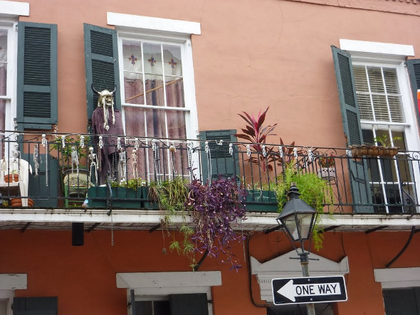 Balcony views in New Orleans French Quarter