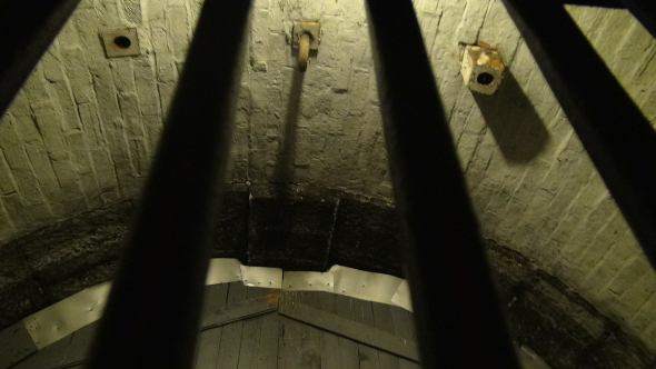 The Hangman's Gallows at the old Carleton County Jail.