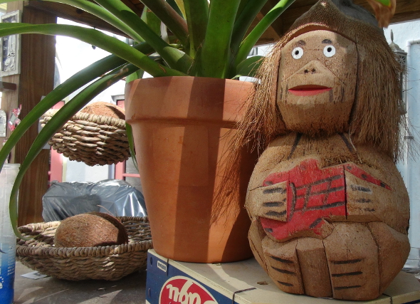 Coconut Man at the Freehand Miami Tikki Bar