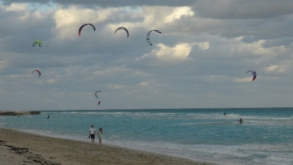 Paragliders in Miami