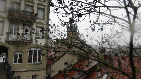 Clock Tower in Fribourg, Switzerland