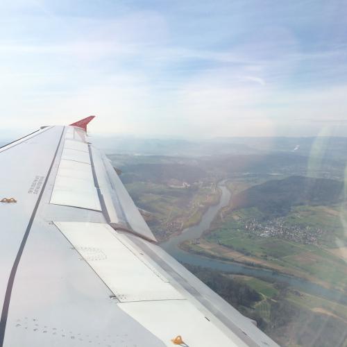 Landing in Zurich, Switzerland