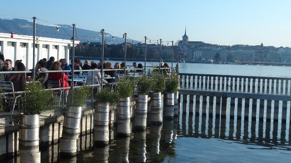 Les Bain des Paquis in Geneva, Switzerland