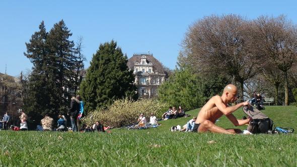 A warm spring day in Zurich