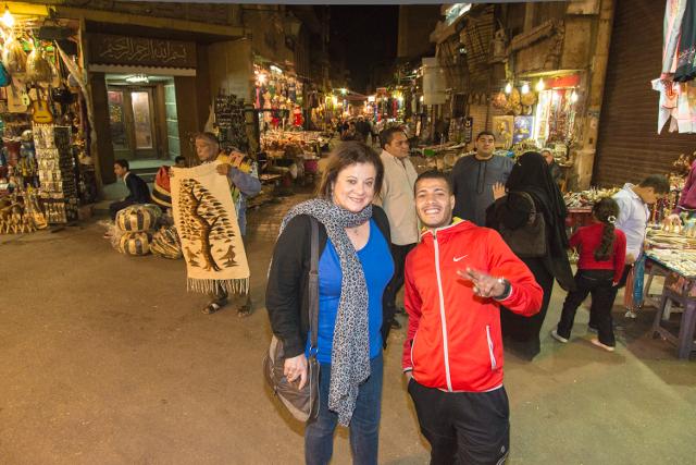 Jacqueline Swartz in Khan el-Khalili in Cairo