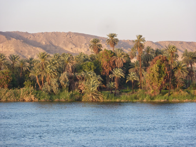 Nile riverbanks in Egypt