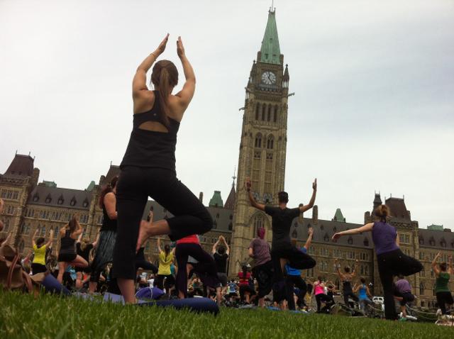 Yoga on the Hill in Ottawa