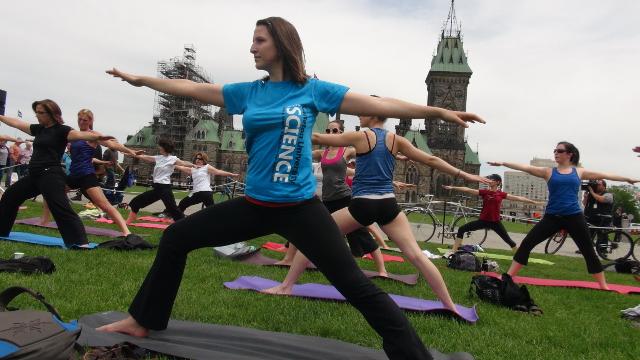 Yoga on Ottawa's Parliament Hill