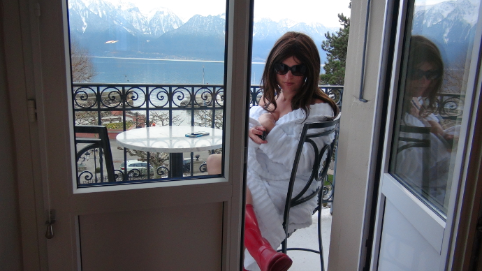 Balcony at the Grand Hotel Du Lac