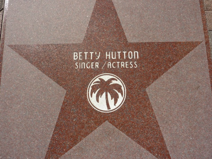 Betty Hutton's Palm Springs' star