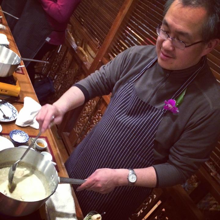 Henry Lee cooking.