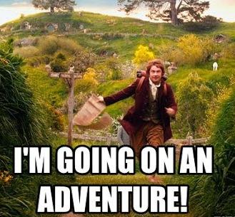 Bilbo going on an adventure.