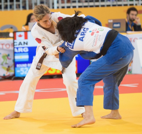 Priscilla Gagne in the Toronto 2015 ParaPan Am Games' Judo Competition.
