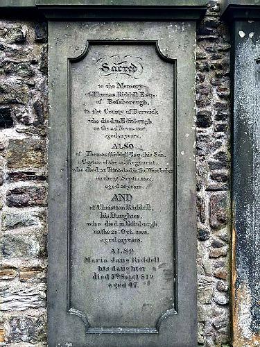 Tom Riddell's Grave in Greyfriar's Kirkyard