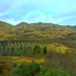 The Glenfinnan viaduct in Scotland.