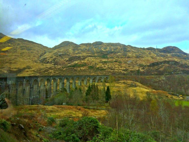 The Glenfinnan viaduct in Scotland.