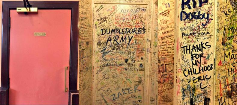 Bathroom Wall in The Elephant House