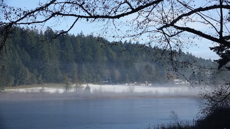 Morning Mist on Cusheon Lake, Salt Spring Island
