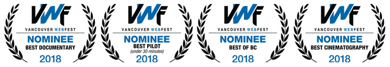 Naturally Salt Spring and Naturally Ours Vancouver Web Fest Award Nominations