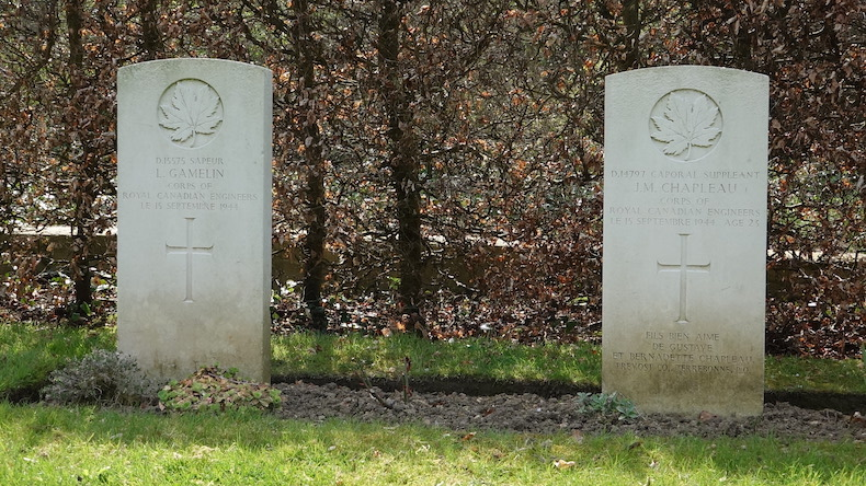 Graves of Canadian Soldiers from the Royal Canadian Engineers in Deauville France.
